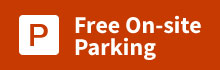 free on-site parking